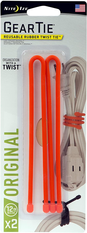 Nite Ize GT12-2PK-31 Original Gear Twist Tie, 12