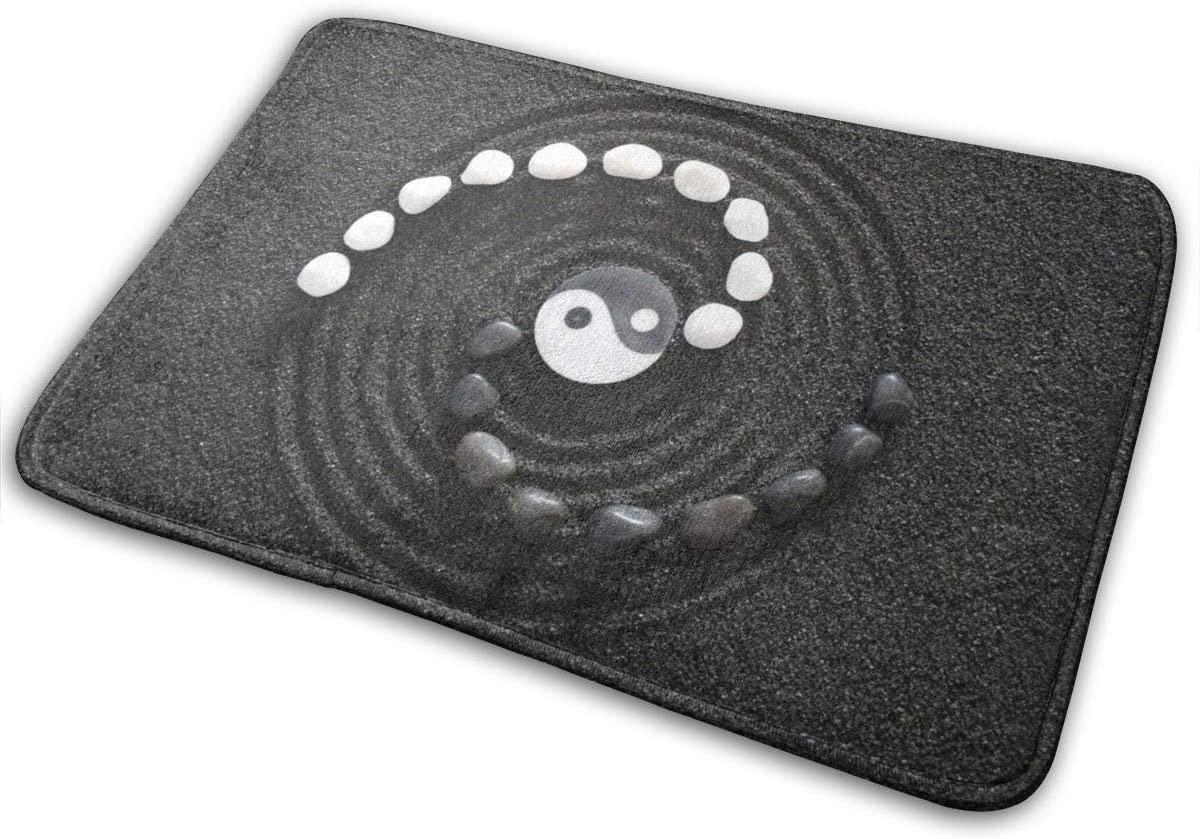 URTEOM Gossip Array Stone Polyester Soft Indoor Doormat for Home Front Door Mat Bathroom Mat Non-Slip Rubber Backing Absorbent Mud Washable