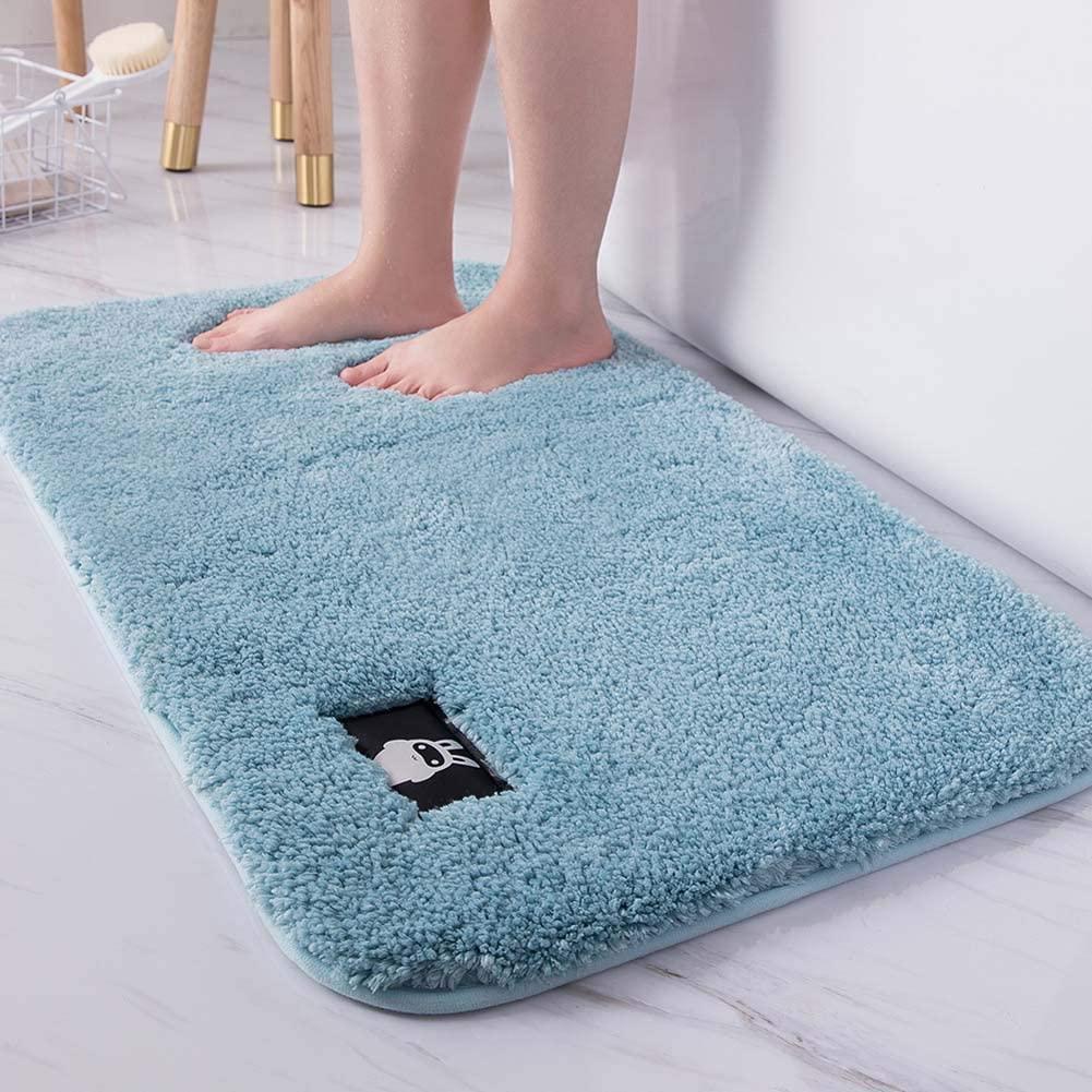 HOUTBY Bath Mats Rug Soft Natural Floor Carpet Non Slip Outdoor Entrance Doormats,23.6
