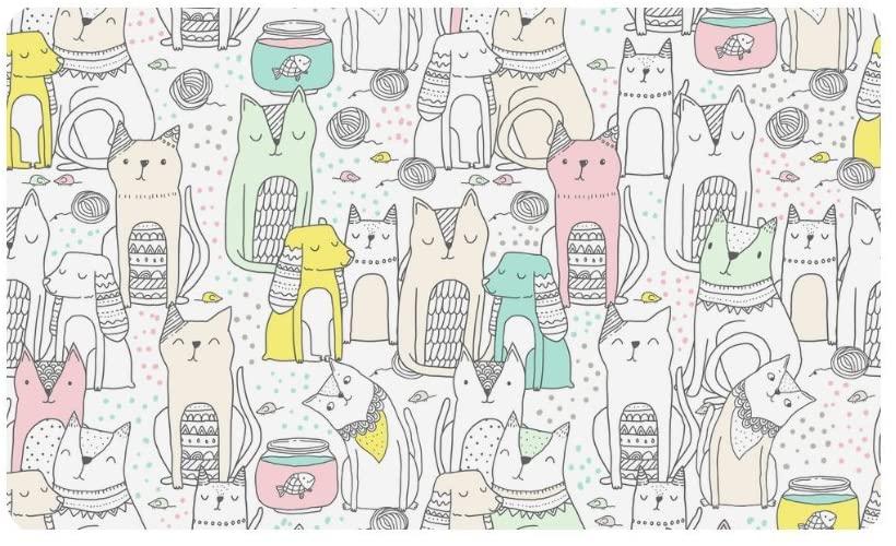 InterestPrint Animals Cats and Spaniel Dogs Indoor Outdoor Entrance Rug Floor Mats Shoe Scraper Doormat Non-Slip Home Decor, Rubber Backing 30