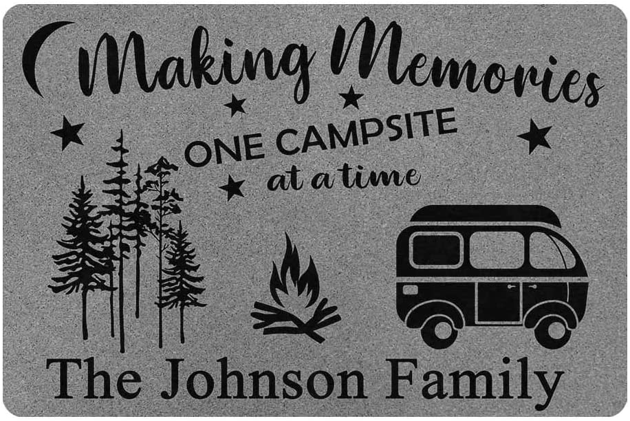 MyPhotoSwimsuits Personalized Camper Doormat 24