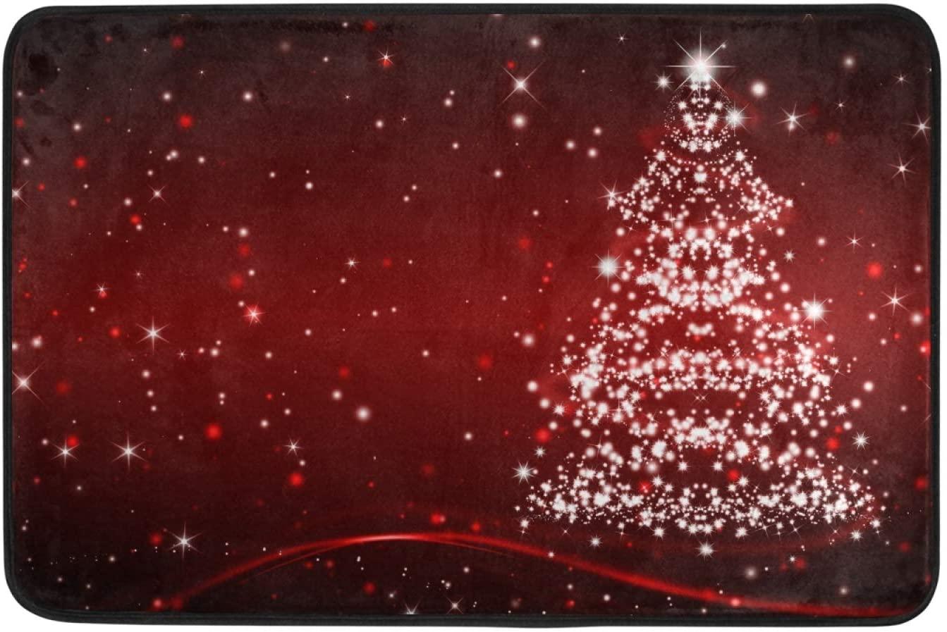Moudou Christmas Doormat Non Slip Floor Mat Indoor Outdoor Entrance Kitchen Bath Garden Carpet 23.6 x 15.7 Inch