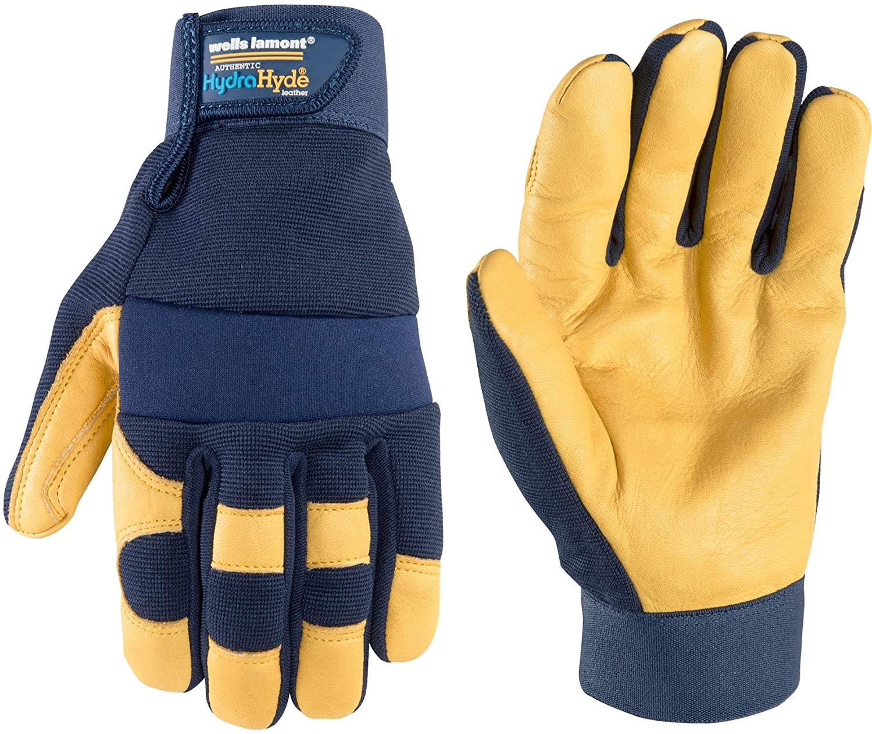 Wells Lamont Men's Leather Palm Work Gloves, Water-Resistant HydraHyde, Medium (3207)
