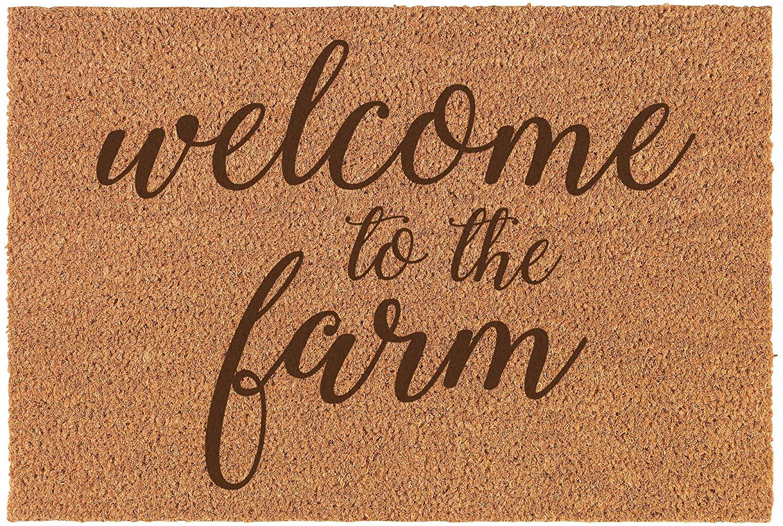 Daylor Coir Door Mat Entry Doormat Welcome to The Farm