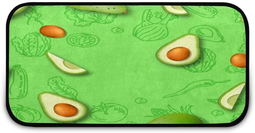 Realistic Avocado Doormat Rug Easy to Clean Non Slip Backing Entry Way Doormat Floor Mat for Patio Front Door Entry Garage Kitchen Bathroom Laundry Room All Weather Indoor/Outdoor