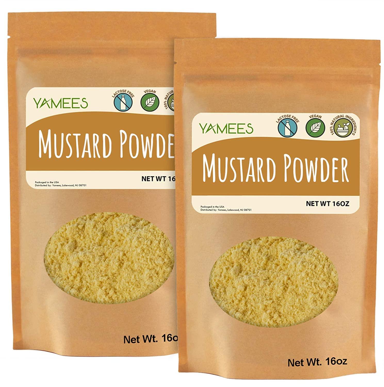 Mustard Powder - 2 Bags - 28 Oz – BULK Ground Mustard – Mustard Seed Powder - Dry Yellow Mustard - BULK Spices