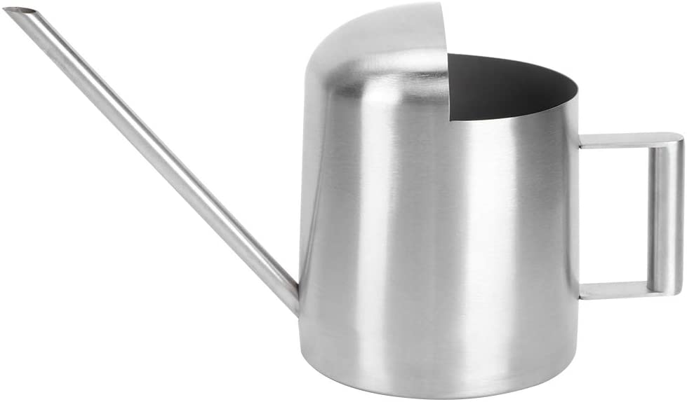 East buy Watering Can, 500ML Stainless Steel Long Spout Watering Can Pot for Household Green Plant Bonsai Irrigation Tool
