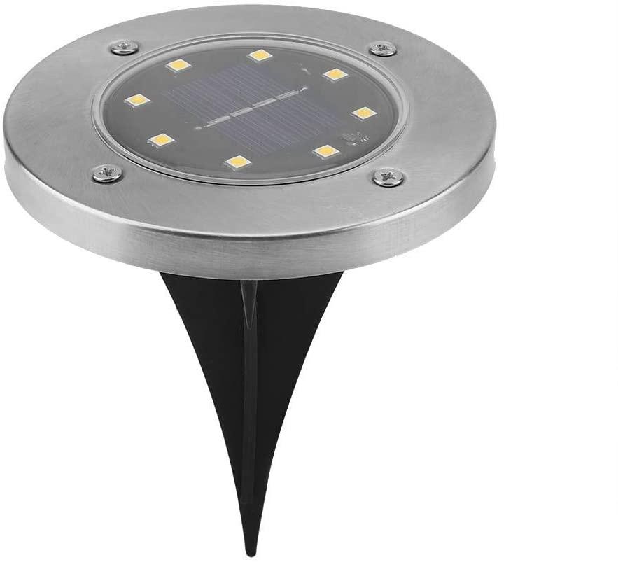 Cocoarm Solar Ground Light, 8 LED IP55 Solar Powered Waterproof Garden Pathway Outdoor in-Ground Lights with Light Sensor, Warm Light(12 Pcs)
