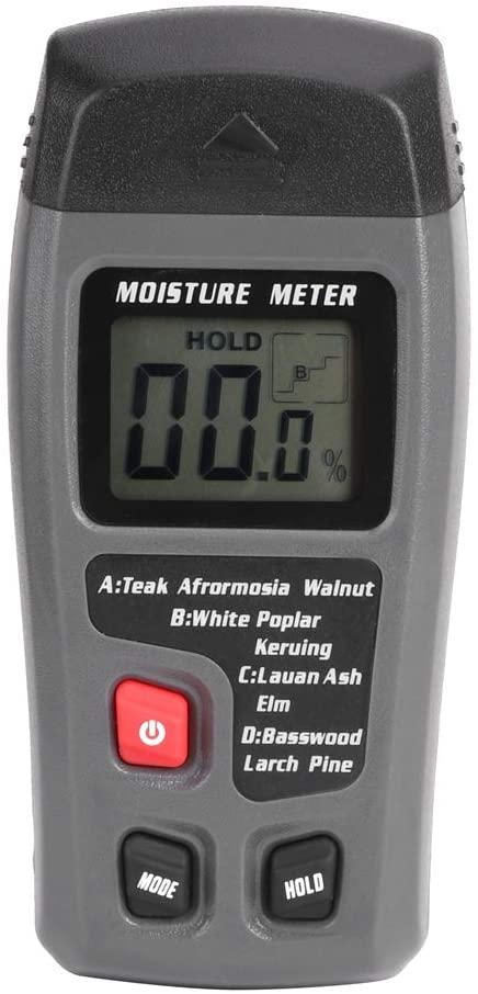 HERCHR Wood Moisture Meter Digital LCD Display Hygrometer Tester Sensor (Without Battery)