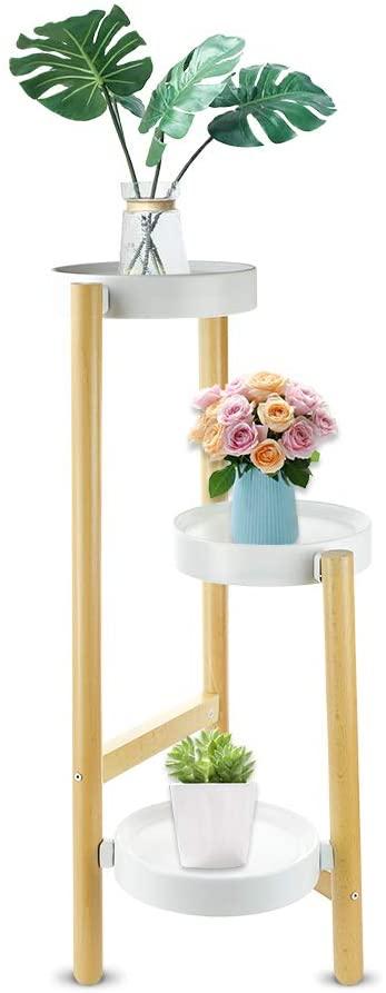 Echaprey Plant Stand Shelf 3 Tier Flower Pot Holder Corner Plant Display Rack for Indoor