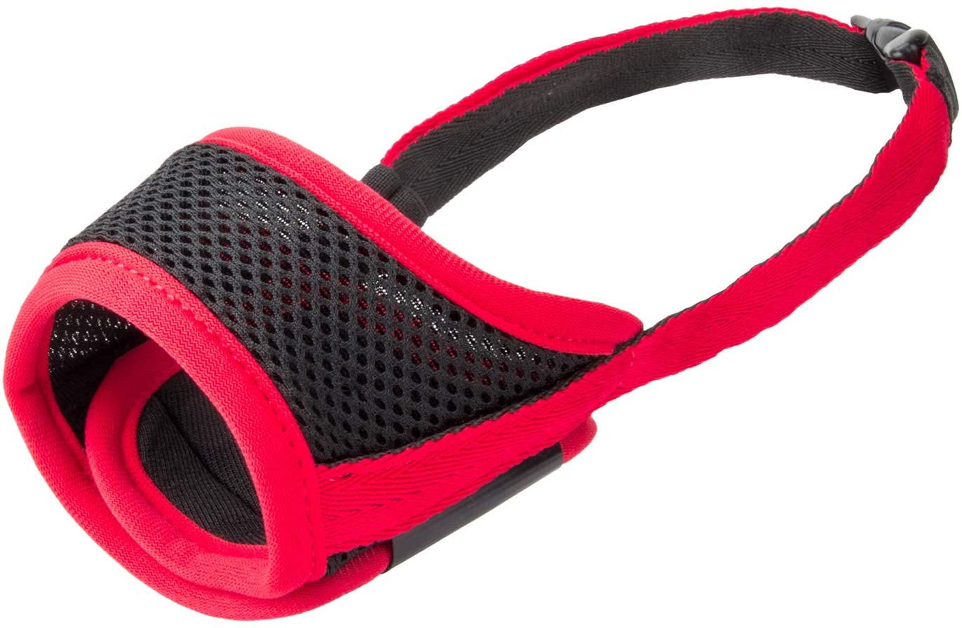 IREENUO Dog Muzzle to Prevent Biting Barking and Chewing with Adjustable Loop Breathable Mesh Soft Fabric