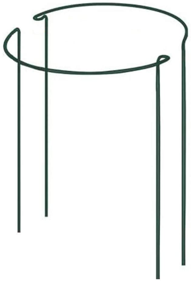 DoubleWood 2 Pack Plant Stake Support Green Half Round Plant Support Ring Metal Garden Plant Stake, Plant Support for Tomato, Hydrangea, Rose, Vine (2 Packs- 8.2