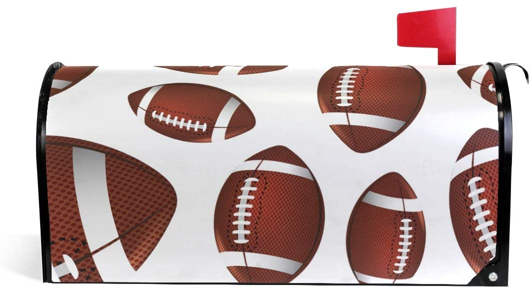 Fengye Rugby Football Mailbox Magnetic Cover Medium Large Capacity Post Box Covers 25.5 x 20.8 inch Oversized