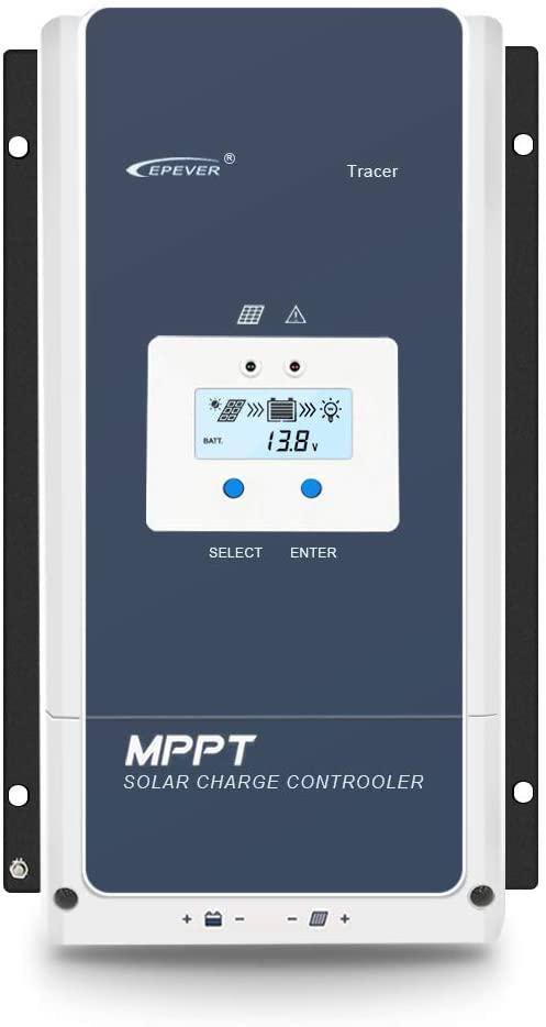 EPEVER 80A MPPT Solar Charge Controller 12V/24V/36V/48V DC Automatically Identifying System Voltage Max.PV 150V Solar Panel Regulator (Tracer 8415 an)