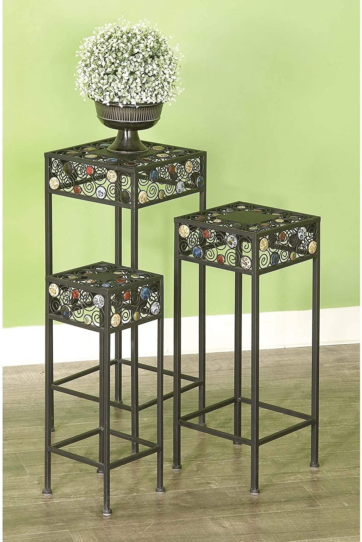 Studio 350 20-inch Metal/Ceramic Plant Stand (Set of 3)