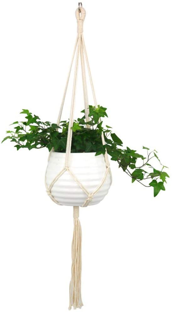 Hanging Planter Europe Plant Hangers Indoor Hanging Planter Basket with Wood Beads Decorative Home & Garden Home Decor