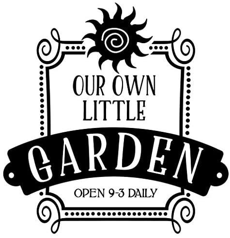 Our own Little Garden Vinyl Wall Art Decal Sticker Plant planters Box Raised Bed Gardening Gloves Book Seeds