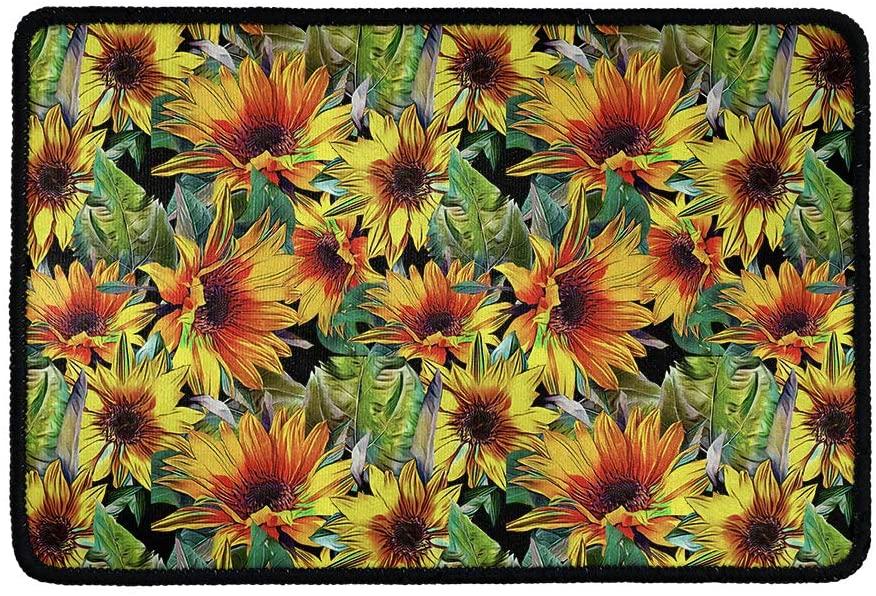 Buybai Sunflower Doormat Outdoor Indoor Bathroom Kitchen Decor Rugs Autumn Harvest Pumpkins Door Mat