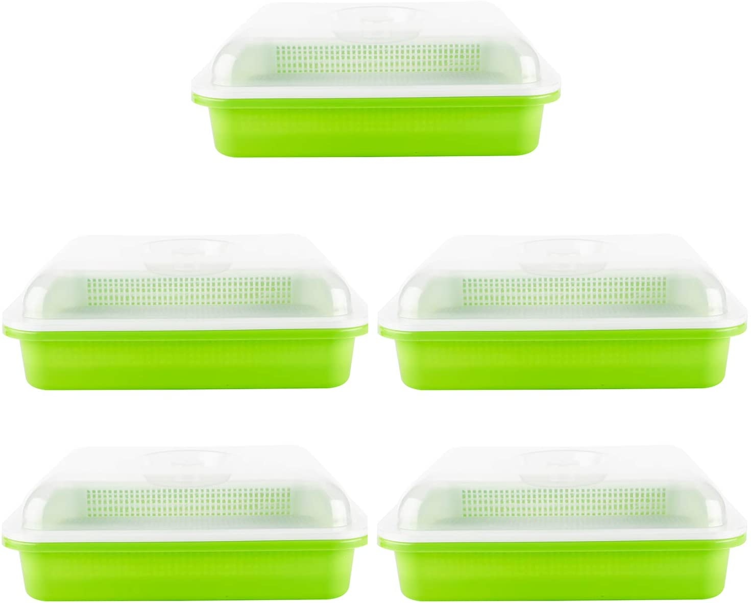 Artilife Seed Sprouter Tray BPA Free PP Soil-Free Big Capacity Healthy Wheatgrass Grower with Lid Sprouting Kit for Garden Home Office (5)