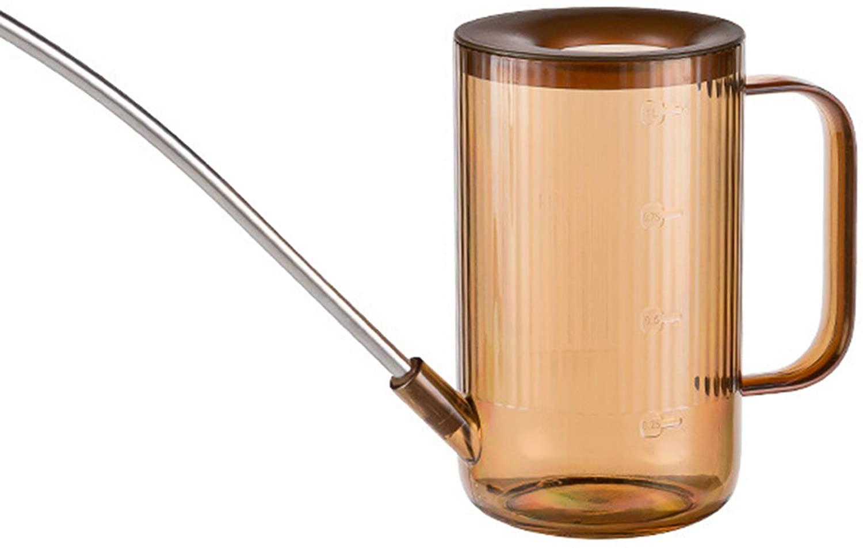 VASTAIR 1L Watering Can Long Mouth Sprinkler Kettle ABS Watering Pot Bonsai Garden Plant Flower Garden Sprinkling Pot(Brown)