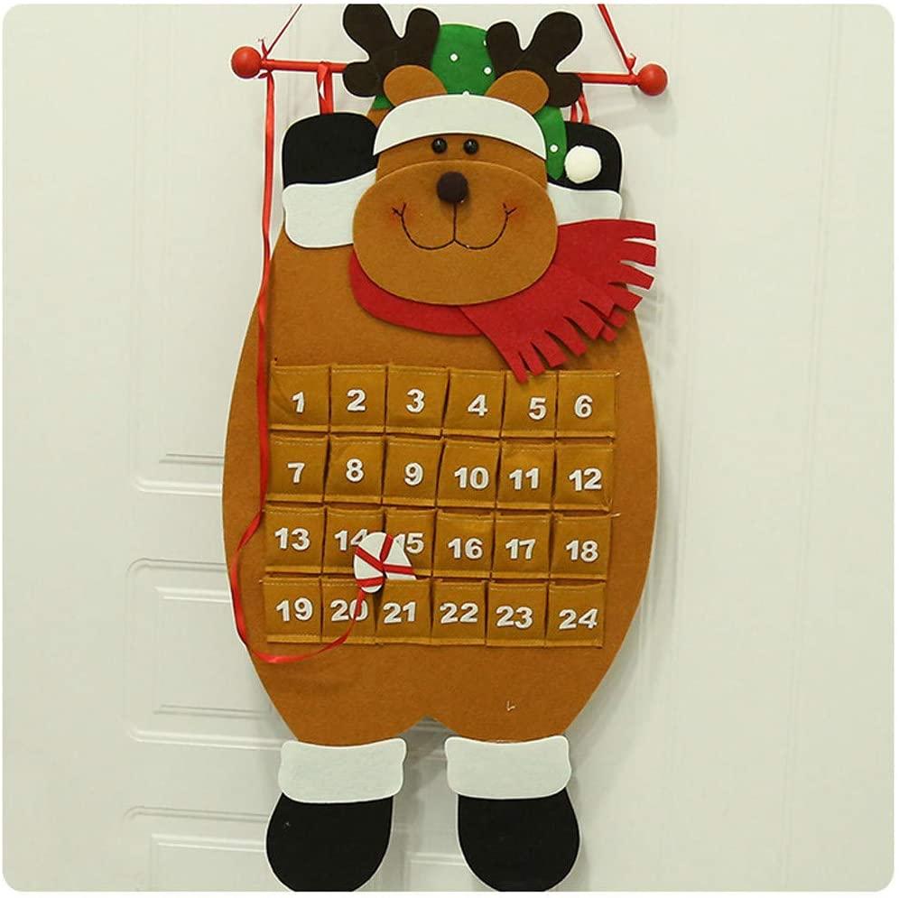 Dmdzw Christmas Decorations New Year Gifts Countdown Calendar Christmas Santa Old Man Snowman Elk Doll Calendar Advent