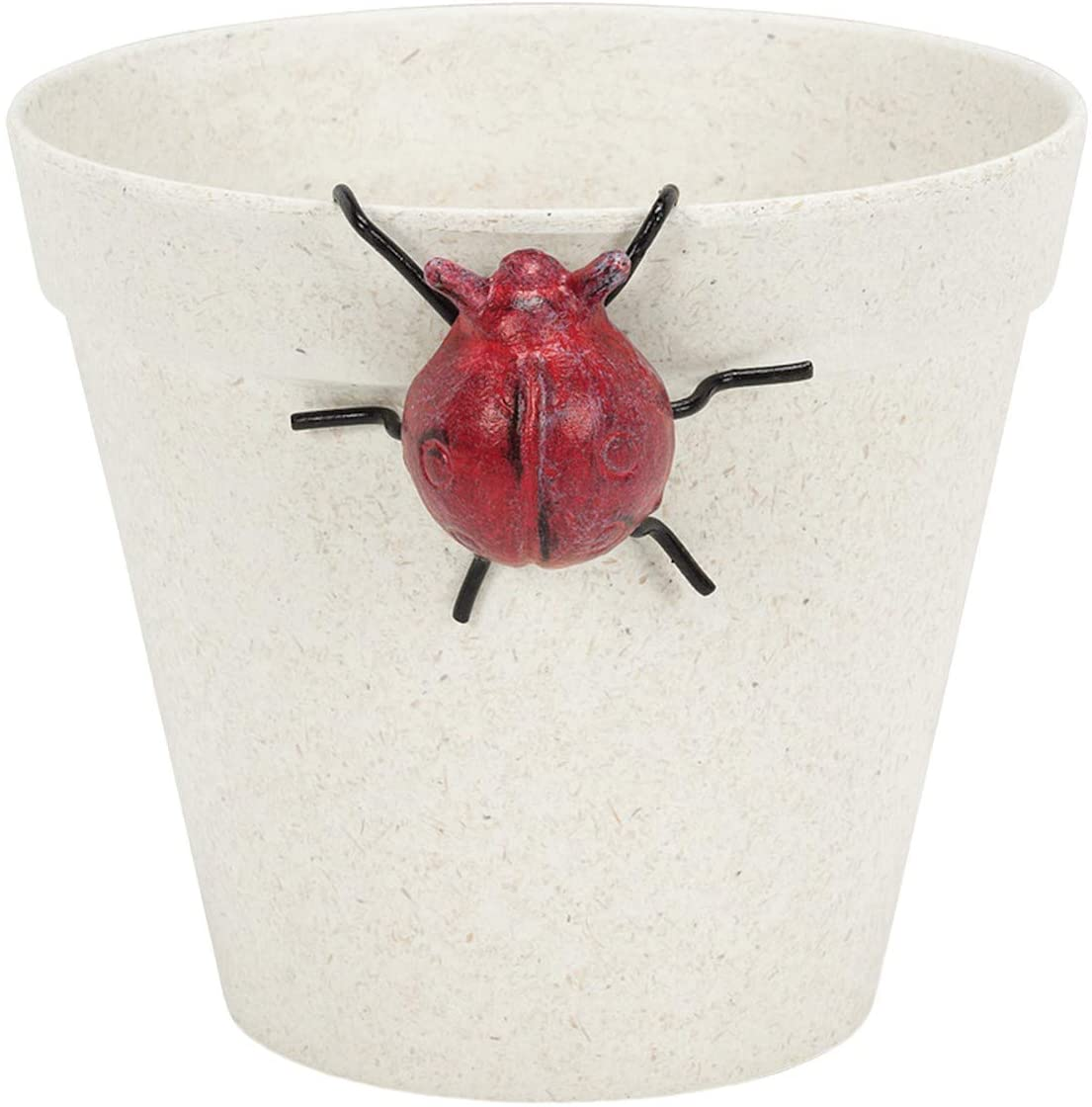 Abbot Ladybug Pot Hanger Figurine - Indoor Outdoor Cast Iron Insect Potted Plant Sculpture, Home and Garden Decor Accent