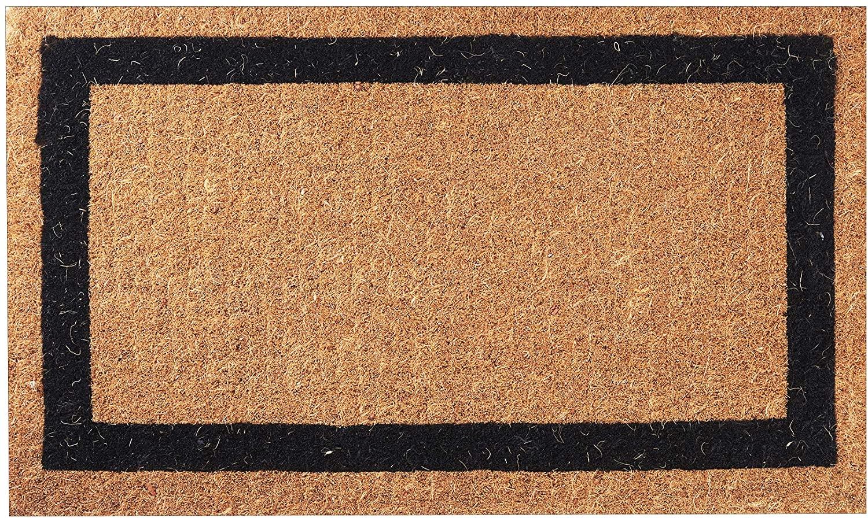 Envelor Home and Garden Handwoven, Extra Thick Doormat, Outdoor Rugs Durable Coir, Outdoor Doormat, Welcome Mat Entryway Door Mat For Patio,Coir Doormat (36 x 60, Classic Black Border)