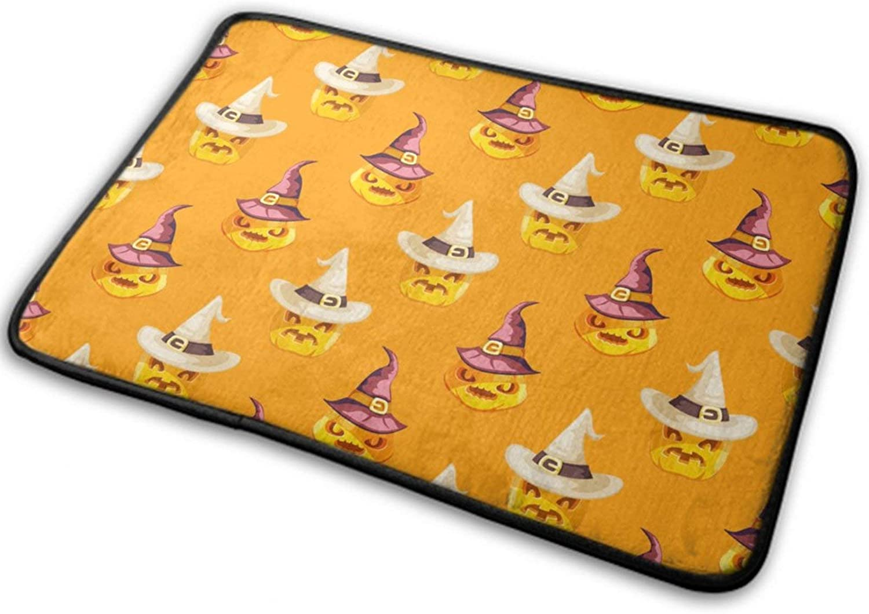 NiYoung Halloween Front Door Mat Outdoor Rugs (15.8 Inchx23.6 Inch) Novelty Anti Dust & Perfect Absorbent - Halloween Funny Pumpkin Witch