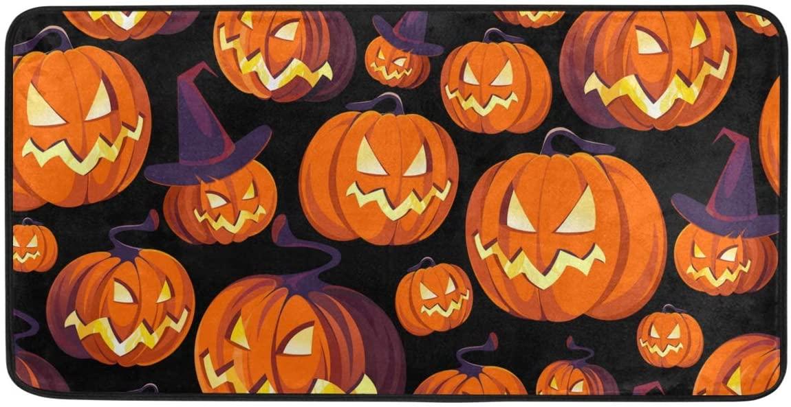 Qilmy Pumpkin Halloween Indoor Doormat Floormat Non Slip Front Door Rug Washable Floor Mats for Kitchen Bedroom Outdoor 39 x 20 Inch