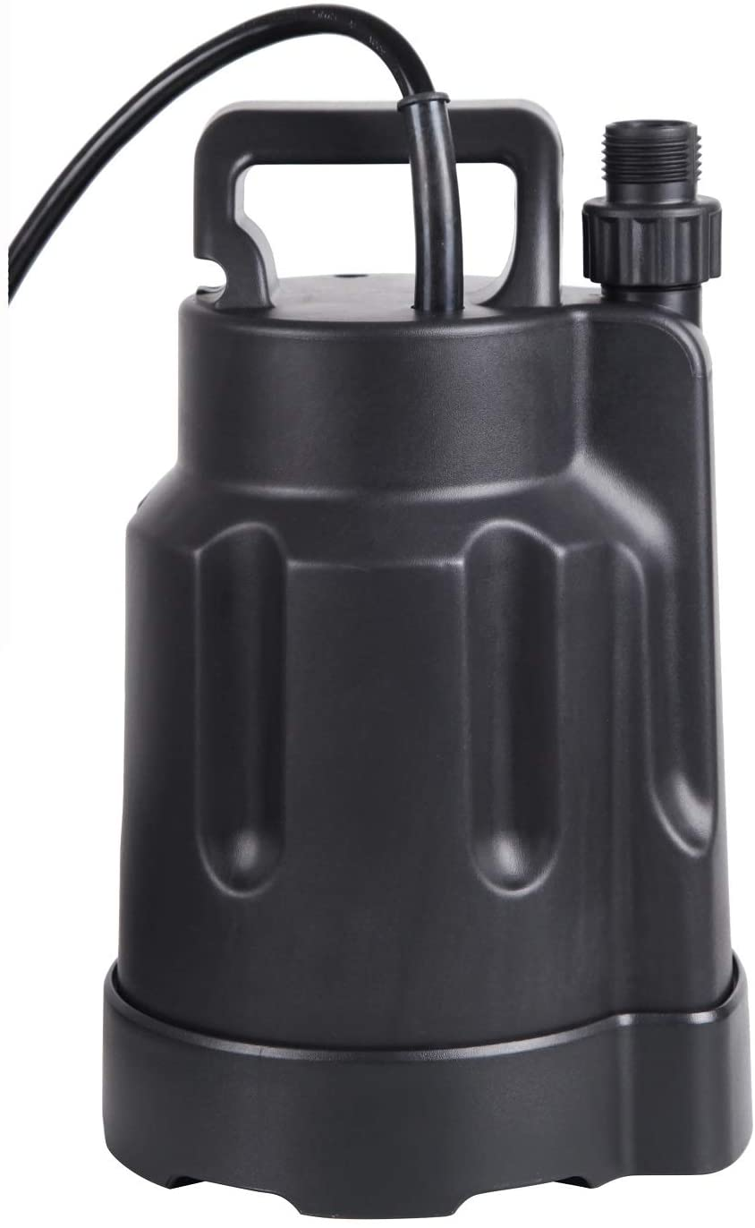 Trupow 1/4 HP 1850GPH Electric Submersible Utility Water Pump Pond Garden Swimming Pool Pump for Clean Water