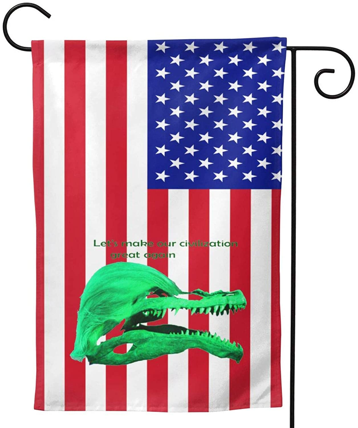 Trump of The Civilization of Dinosaurs Garden Yard Flag Vertical Full Screen Printing Double Sided Great American Flag Yard Outdoor Decoration