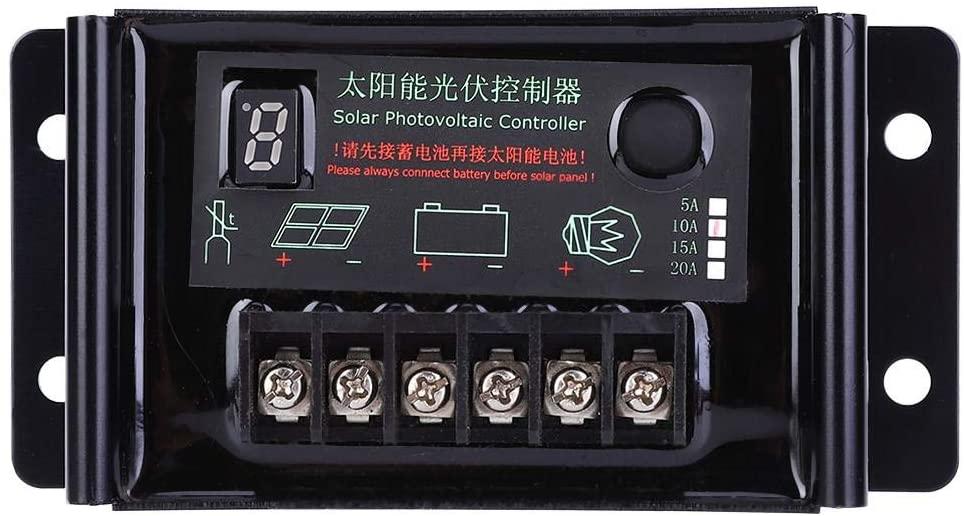 Solar Panel Regulator, Power Generation Controller Waterproof Backlight LED Display 10A 9.6V 11.1V 12.8V 14.8V 22.2V, Solar Panel Charge