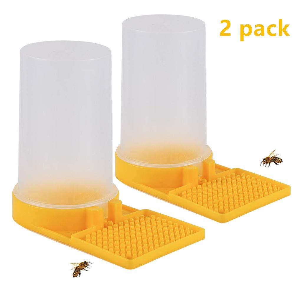 2 Pack Beehive Beekeeping Water Dispenser Honey Beehive Entrance Feeder Bee Drinking Beekeeping Equipment Nest Beekeeper Tool