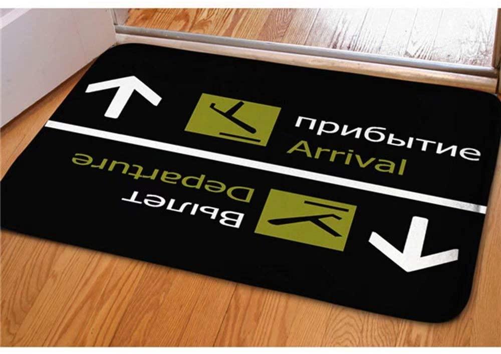 Dellukee Welcome Large Doormats Arrival Departure Pattern Indoor Outdoor Funny Non Slip Durable Washable Home Decorative Door Mats Bath Rugs for Entrance Bedroom Bathroom Kitchen, 23 x 16 Inches