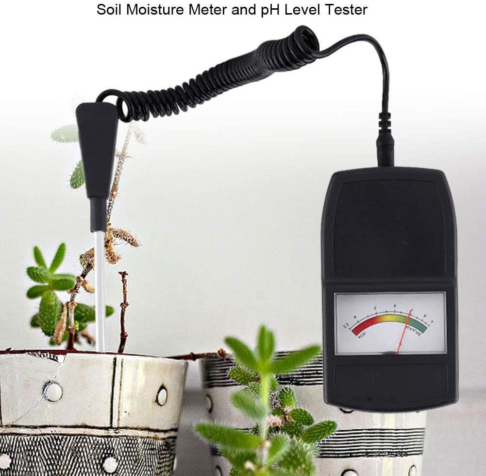 Soil pH Level Tester, 2 in 1 PH Level Tester Plastic Lightweight Soil Tester for Plants Crops Flowers Vegetable Lawn Farm (No Battery Needed)
