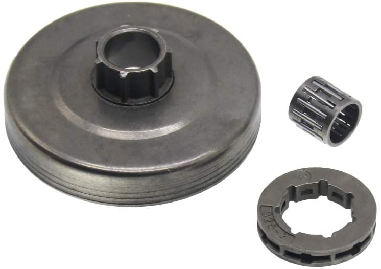 QHALEN Clutch Drum Needle Bearing with 0.325-7 Teeth for Chinese Chainsaw 4500 5200 5800