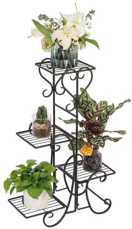 Metal Plant Stand Metal Plant Stand Wrought Iron Flower Pot Shelves Outdoor Indoor Garden