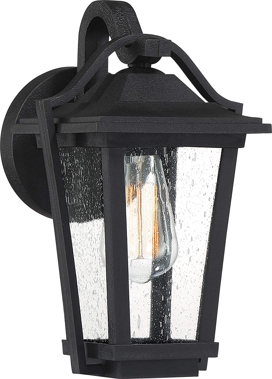 Quoizel DRS8407EK Darius Outdoor Wall Lantern Wall Sconce Lighting Fixture, 1-Light, 100 Watt, Earth Black (12