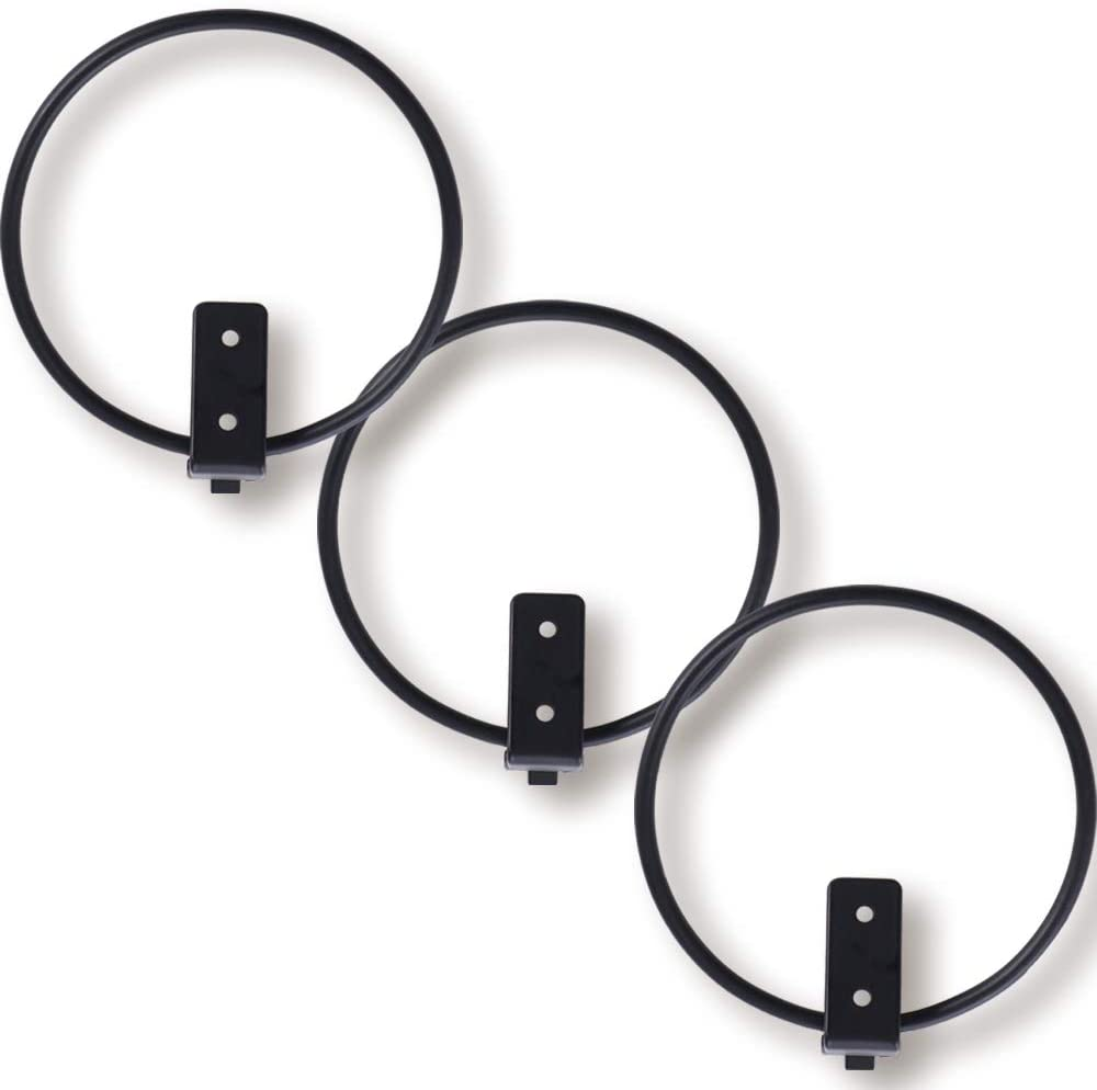 ORZ 6 Inch Wall Planter Holder, Set of 3 Pot Wall Mounted Metal Plant Hanger, Collapsible Bracket, Iron Black