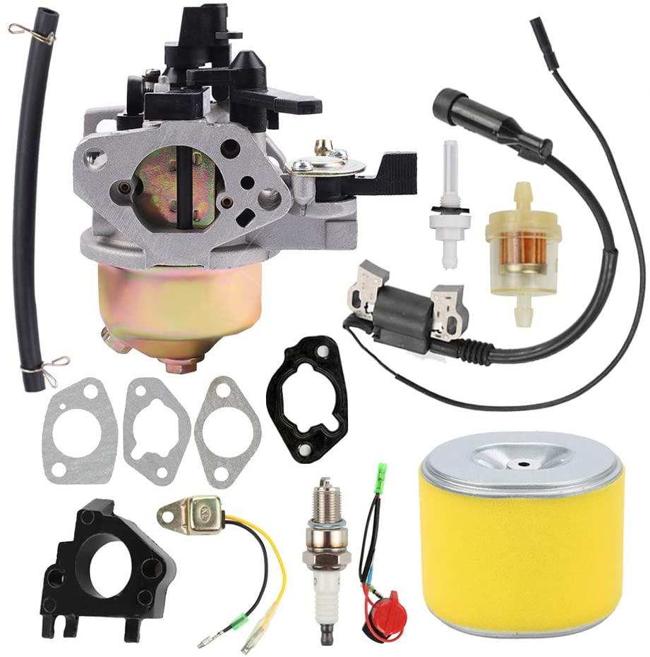 Savior GX 390 Carburetor with Air Filter Ignition Coil for Honda GX340 Carburetor GX390 11HP 13HP 188F Generator 16100-ZH8-W61 16100-ZF6-V01 16100-ZF6-V00 16100-ZF2-V00
