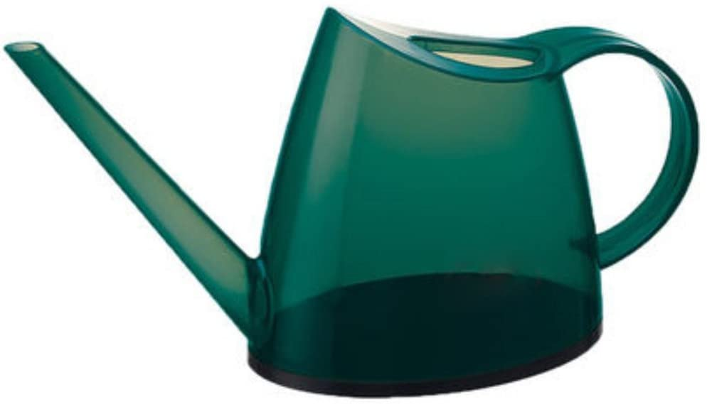 TIME'HOME Transparent Long Spout Watering Can Watering Pot For Plant Watering-1.5L,Green