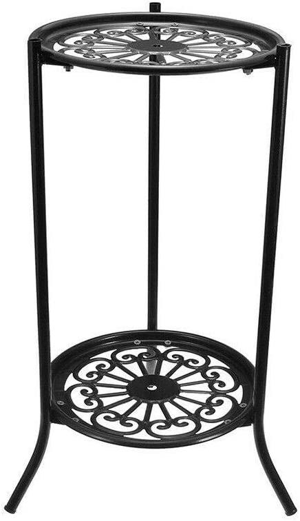 Metal Plant Stand 2 Plant Shelves Garden Plant Stand Pot Planter Holder Display Shelf Tool Outdoor,Black