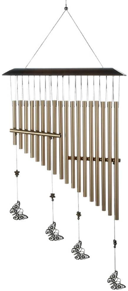 Hankyky Butterfly Wind Chime Butterfly Harp Aluminum Tube Wind Chimes Holiday Wind Chime with S Hook for Indoor and Outdoor