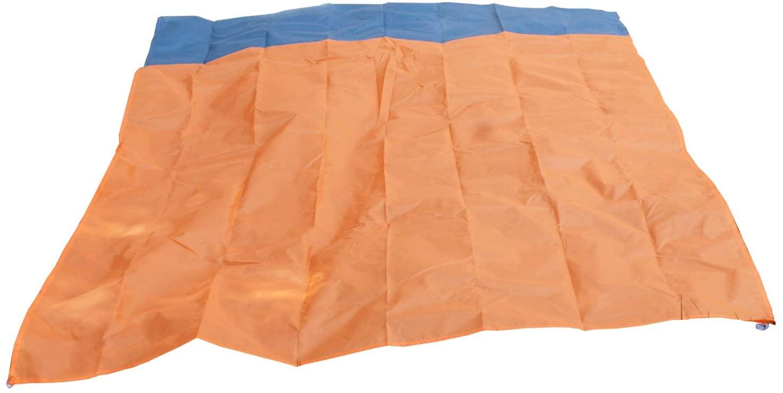 Julitrip 79'X55' Orange Picnic Blanket Green Outdoor Beach Mat Sandproof Oversized Blanket