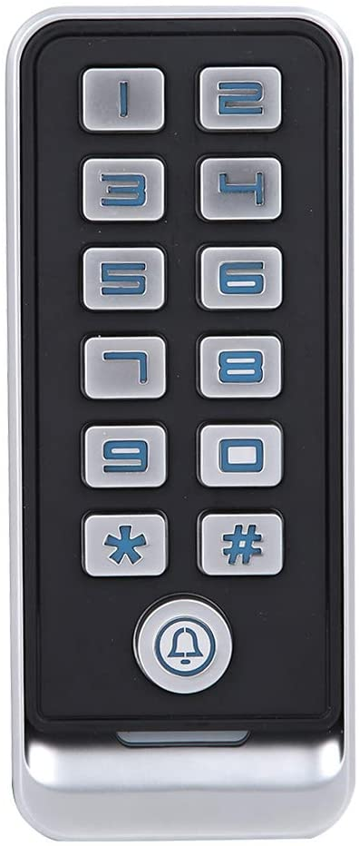 Access Control Keypad, RFID Access Control Password Card Keypad Wiegand 26/34 IP67 Waterproof Backlit Door Entry Security Access Control Machine