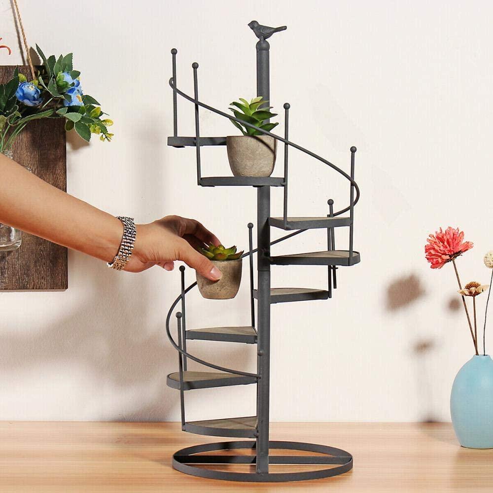 Metal Plant Stand Flower Pot Garden Corner Shelf Outdoor Indoor Display,3# Staircase Flower Stand