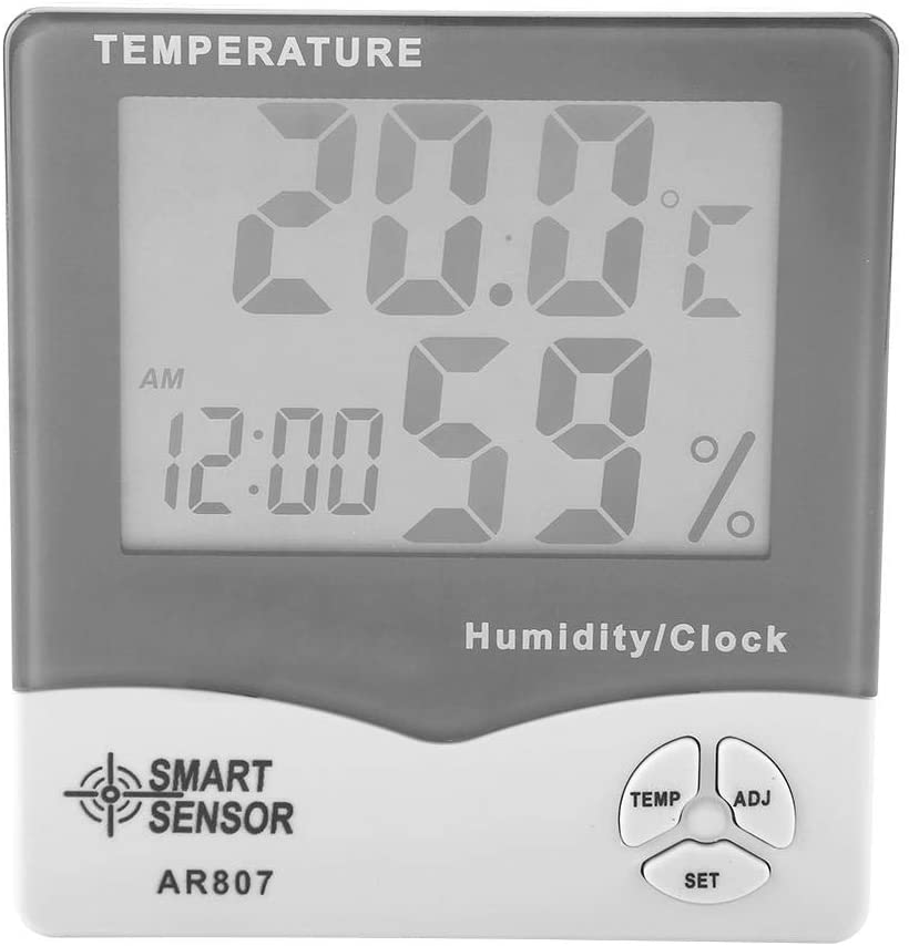 WAL FRONT Smart Sensor AR807 Hygrometer Thermometer,Digital Indoor Temperature Humidity Hygrometer Thermometer