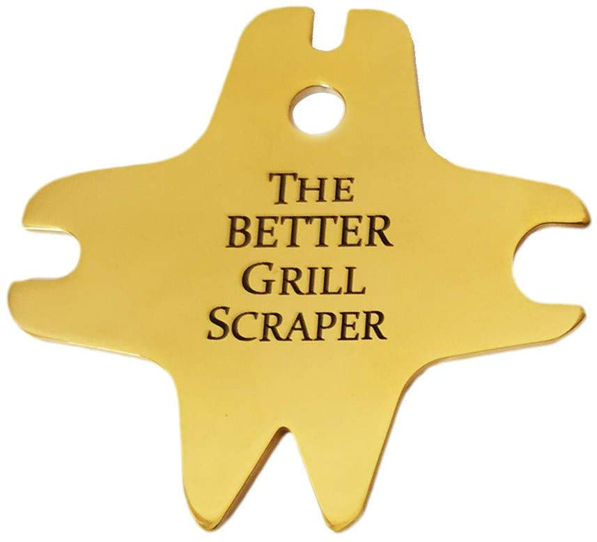 Grill Scraper, Stainless Steel BBQ Grill Scraper Bristle Free Safe Barbecue Cleaning Tool for Metal Grilling Smoker Oven Racks
