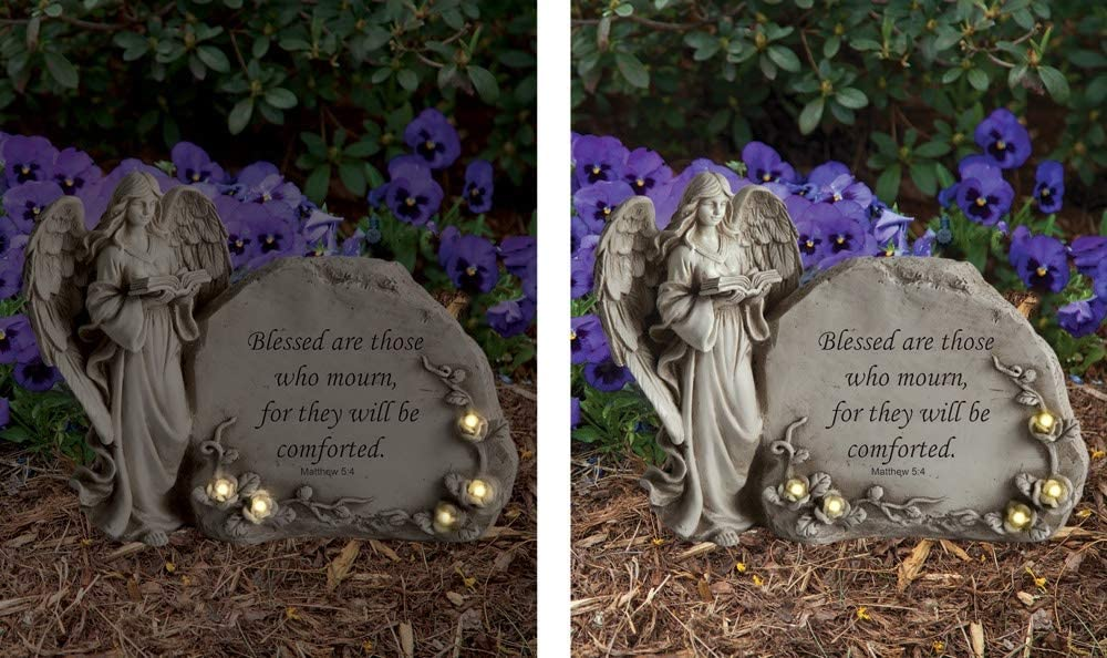 Manual RMINBL Book Angel with Stone Led
