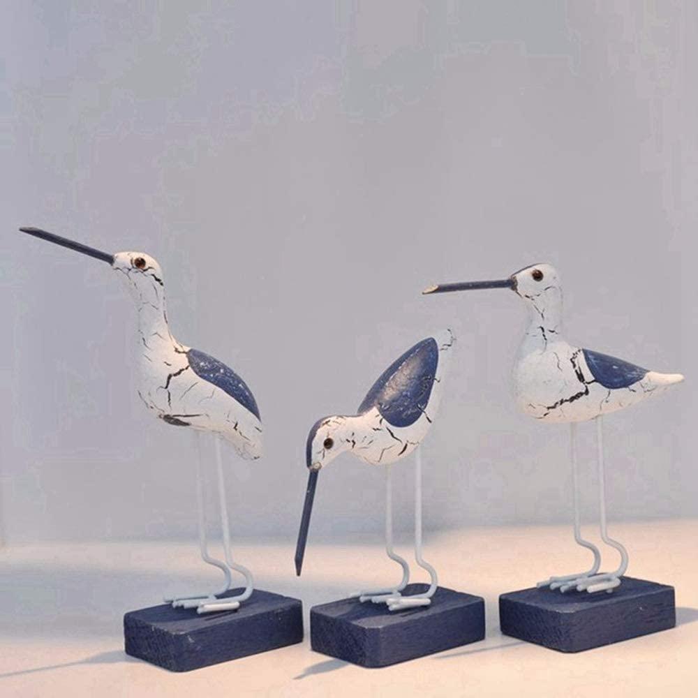 CHDHALTD Seagull Miniatures Figurines Ornaments,Garden Bird Statue for Mediterranean Nautical Office Craft Model Desktop Seagull Home Desk Decor